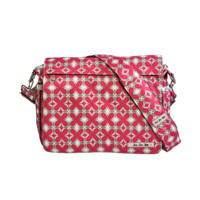 Ju Ju Be Better Be Messenger Diaper Bag in Pink Pinwheels