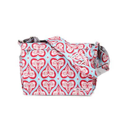 Ju Ju Be Be All Messenger Diaper Bag in Sweet Hearts