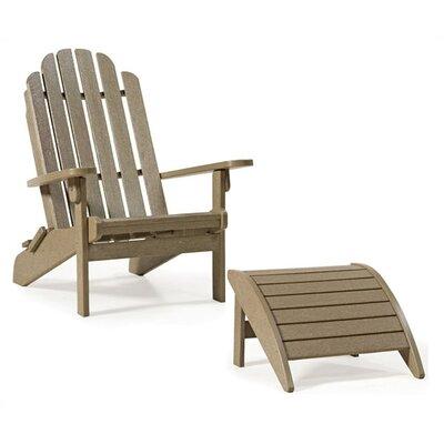 Siesta Bayfront Folding Adirondack Chair and Ottoman