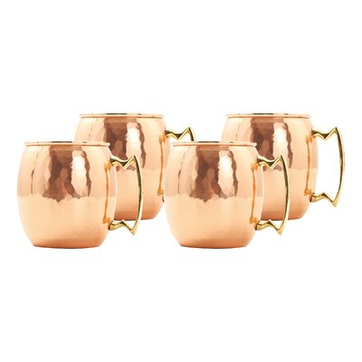 Old Dutch International Moscow Mule Mug Hammered (Set of 4)