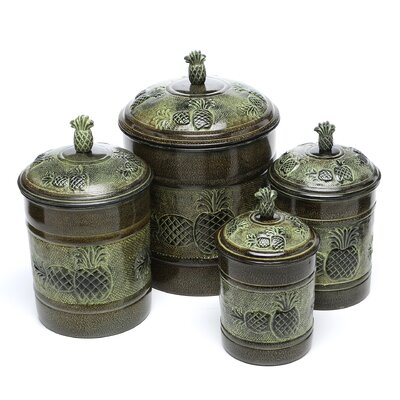 <strong>Old Dutch International</strong> 4 Piece Pina Fresh Canister Set