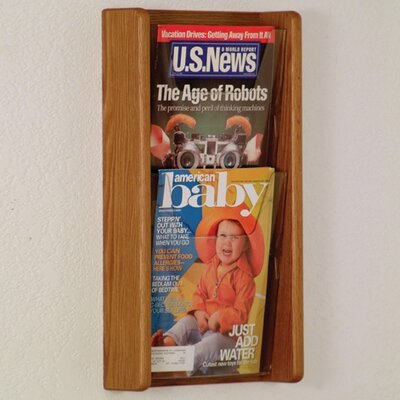 Wooden Mallet 2 Pocket Wall Display