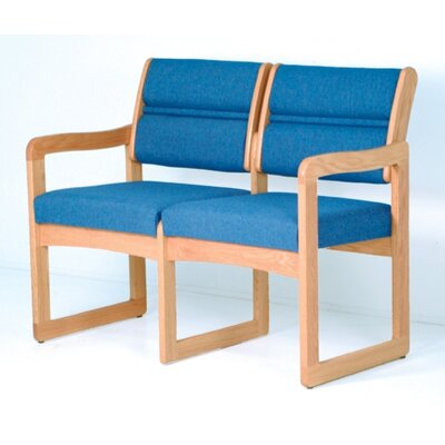 Wooden Mallet Valley Two Seat Guest Chair