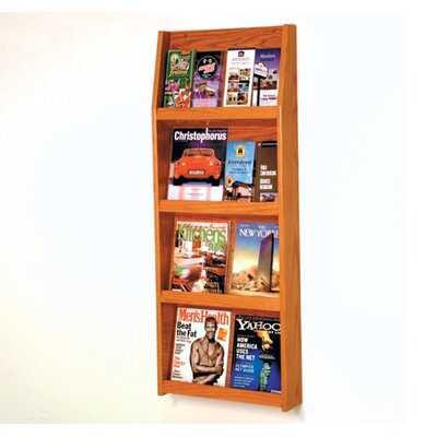 Wooden Mallet Eight Magazine and Sixteen Brochure Wall Display