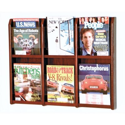 Wooden Mallet 6 Pocket Magazine Wall Display
