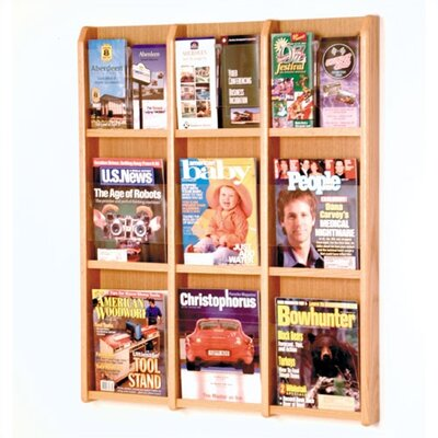 Wooden Mallet 9 Pocket Magazine / 18 Pocket Brochure Wall Display