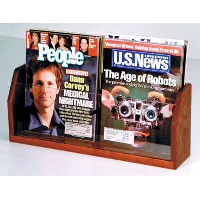 Wooden Mallet Countertop Two Pocket Magazine Display