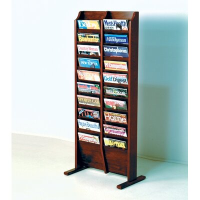 Wooden Mallet Free Standing Twenty Pocket Magazine Rack