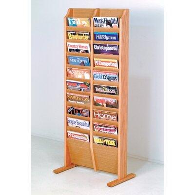 Wooden Mallet 20 Pocket Free Standing Magazine Rack
