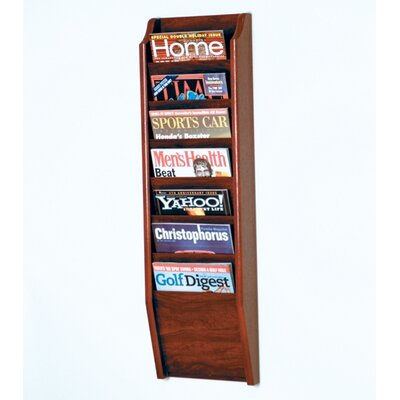 Seven Pocket Wall Mount Magazine Rack