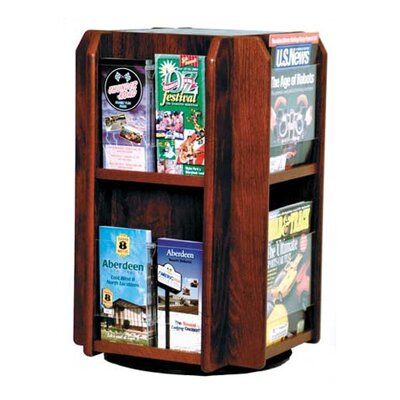 Wooden Mallet Countertop Eight Pocket Rotary Literature Display