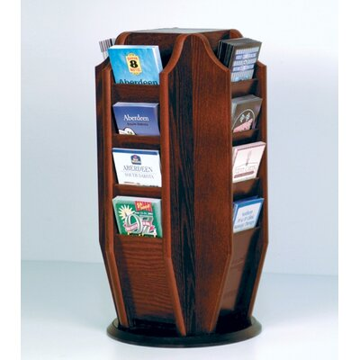 Wooden Mallet Countertop 16 Pocket Brochure Rotary Display