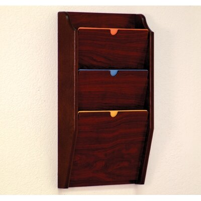 Wooden Mallet Three Pocket HIPPAA Compliant Chart Holder