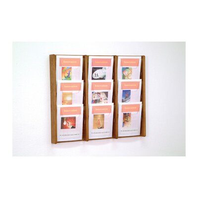 Wooden Mallet Nine Pocket Acrylic and Oak Wall Display