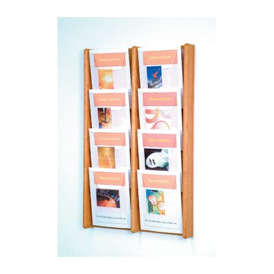 Wooden Mallet Eight Pocket Acrylic and Oak Wall Display