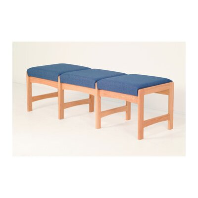 Wooden Mallet Dakota Wave Three Seat Bench with Designer Fabric