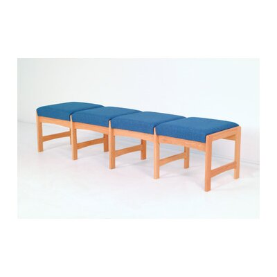 Wooden Mallet Dakota Wave Four Seat Bench with Designer Fabric