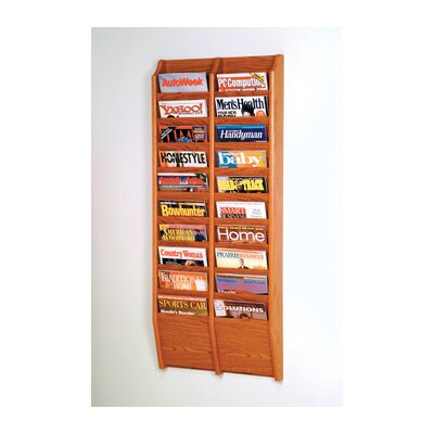 Twenty Pocket Wall Mount Magazine Rack