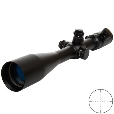 Triple Duty Rifle Scope 8.5-25x50, Mil-dot Dot Reticle, IR R&G