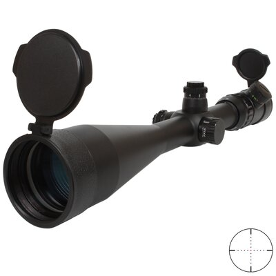 Triple Duty Rifle Scope 10-40x56, Mil-dot Dot Reticle, IR R&G