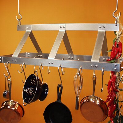 HSM Racks Galley Rectangular Hanging Pot Rack