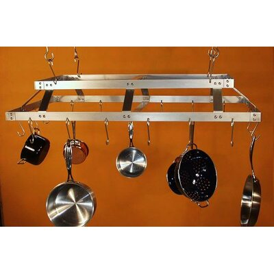 HSM Racks Commercial Rectangular Hanging Pot Rack