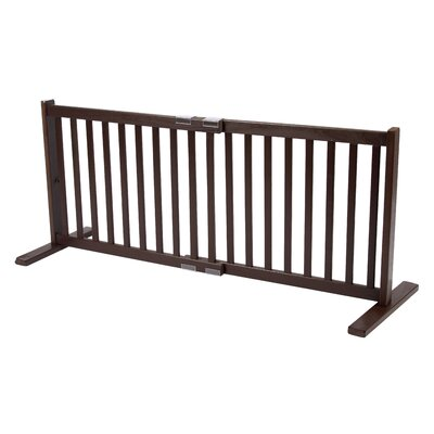 "Dynamic Accents 20"" All Wood Small Free Standing Pet Gate in Mahogany"