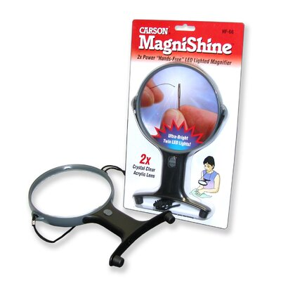MagniShine Hands Free Magnifier in Black / Grey