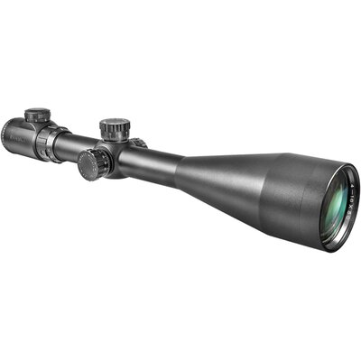 "Barska 6-24x60 IR, Riflescope, Black Matte, 30mm, with 5"" Shade and 5/8"" Rings, IR Mil-Dot"