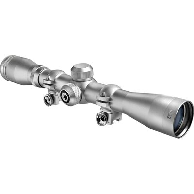 4x32 Plinker-22 Riflescope, Silver, 30/30, with 3/8
