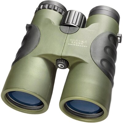 12x50 WP Atlantic Binoculars, Bak-4, Blue Lens