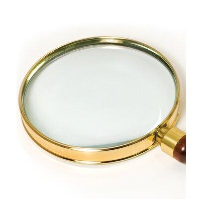 Barska Brass Magnifier Telescopes Set: 3 Power, 90mm hand-held magnifier and 40mm table magnifier (Set of 2)