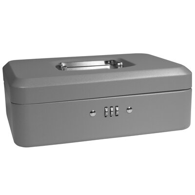 Medium Gray Cash Box with Combination Lock