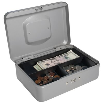 Barska Medium Gray Cash Box with Combination Lock