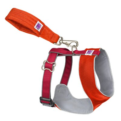 Mutt Gear™ Dog Comfort Harness in Orange and Red