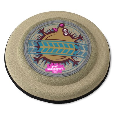 Doggles Flying Discs Hedgehog Dog Toy in Tan