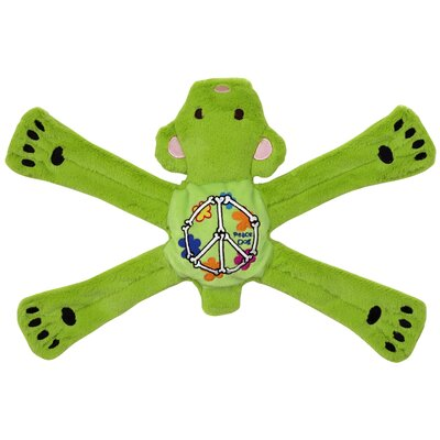 Doggles Hippie Pentas Dog Toy in Green