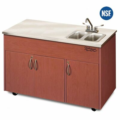Ozark River Portable Sinks Silver Advantage Double Bowl Portable Sink
