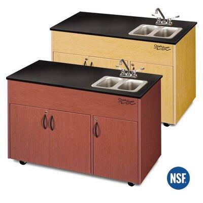 "Ozark River Portable Sinks Advantage 50"" x 24"" Portable Handwashing Station with Storage Cabinets"