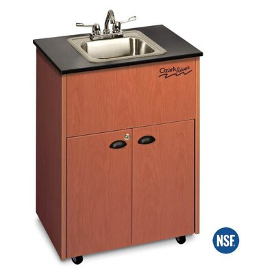 "Ozark River Portable Sinks Premier 26"" x 18"" Portable Handwashing Station with Storage Cabinet"
