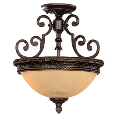 Knight 2 Light Semi Flush Mount