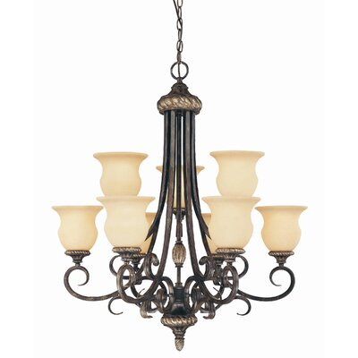 Towne Lake 9 Light Chandelier