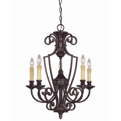 Knight 5 Light Chandelier without Glass