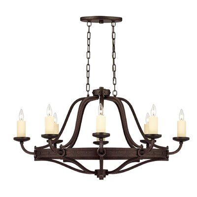 Savoy House Elba 8 Light Oval Chandelier Island Light