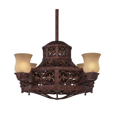 Savoy House Fire 4 Light Island Fan Chandelier