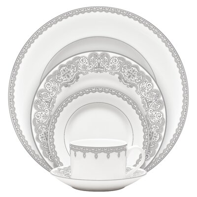 Lismore Lace Platinum 5 Piece Place Setting