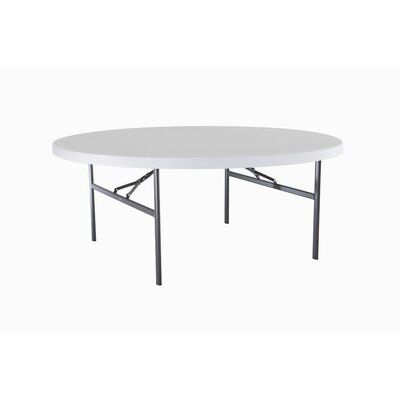 "Lifetime 72"" Round Commercial Grade Table in White"