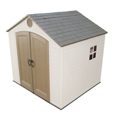 "Lifetime 8' W x 7'5"" D Plastic Storage Shed"