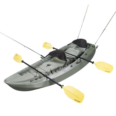 Lifetime Sport Fisher Kayak in Olive Green