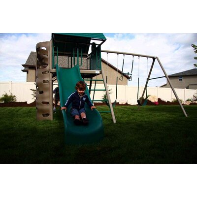 Lifetime Earthtone Hard Top A-frame Swing Set